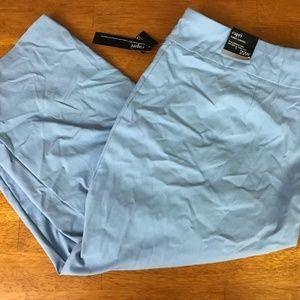 NEW Alfani Tummy Control Capri Pants Blue 22W